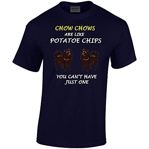 chips-de-perros-son-como-collection-1-gildan-heavy-camiseta-de-algodon-azul-marino-para-hombre-casua