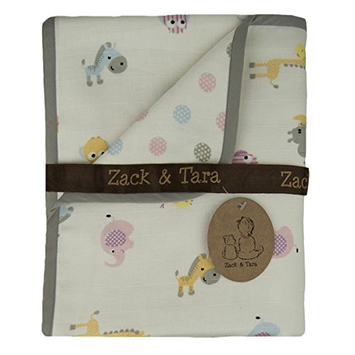 Zack & Tara Snuggle Blanket - Adorable Animals & Pretty Polkas