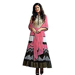 Jini Fashion Georgette Salwar Suit (NK-10016_Pink_free size)