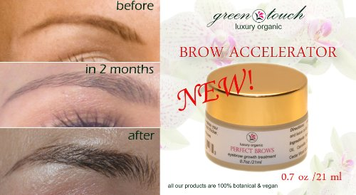 PERFECT BROWS Accelerator Eyebrows Growth Balm & Enhancer for Fullness and Darkness 0.7 oz/ 21 ml