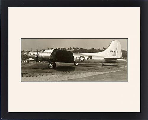 Framed Artwork of Boeing B-17G Flying Fortress taxies out