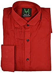 MEC-M Men's Formal Shirt (Xx-Large, Red)