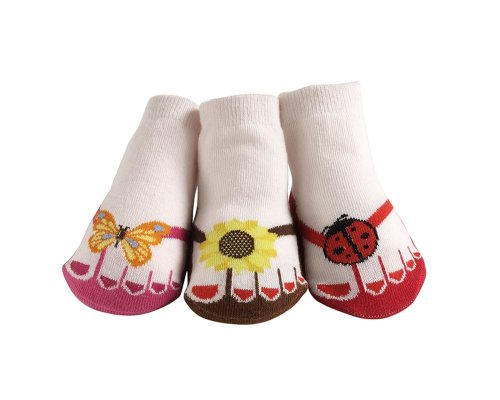 Jazzytoes Little Sunshine Flip Flops Socks, 12-24 Months front-646217