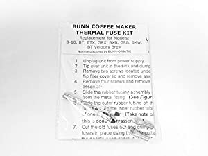 Bunn Coffee Maker Thermal Fuse Kit : Amazon.com: Repair Your Bunn Coffee Maker, Water Not Heating? Thermal Fuse Harness (B-10, GRX ...