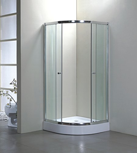 900mm x 900mm Quadrant Shower Enclosure And Stone Tray and Towel Rail With Tempered Safety Glass Anti Shatter