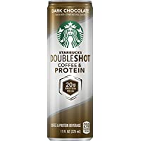Starbucks Doubleshot Coffee and Protein, Dark Chocolate, 11 Ounce Cans (Pack of 12)