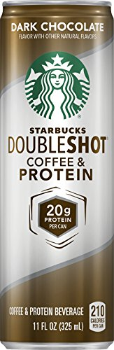 Starbucks Doubleshot Coffee and Protein, Dark Chocolate, 11 Ounce Cans (Pack of 12) (Starbucks Coffee Can compare prices)