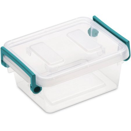 Case of 6 Sterilite 1.2 qt Modular Latch Box, Teal Sachet (Sterilite Modular System compare prices)