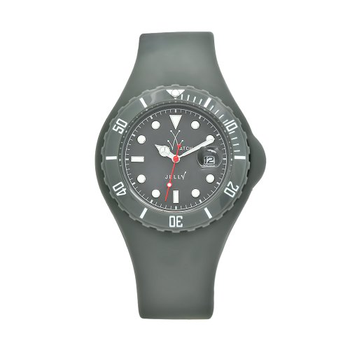 Toy Men's JYGYS Jelly Grey Silicone Strap Grey Dial Watch