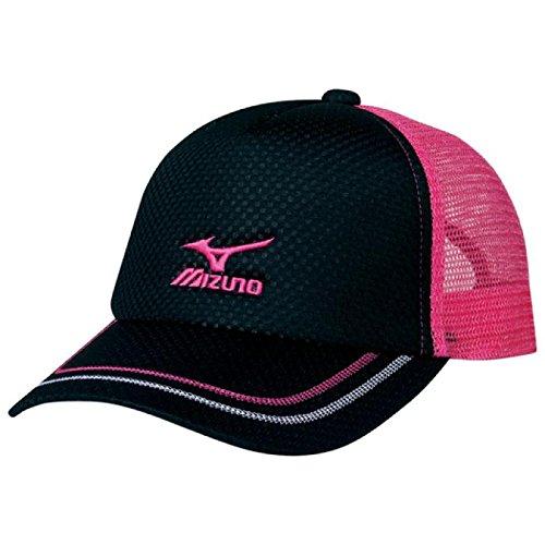Mizuno (mizuno) Cap (shiny mesh) 62JW5200 97 black × pink