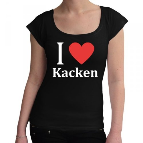 i love kacken fun damen t shirt gr e s farbe schwarz. Black Bedroom Furniture Sets. Home Design Ideas