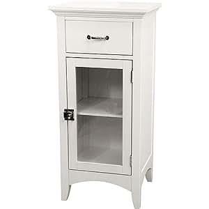 bathroom floor cabinet curved shame glass door 1 door w