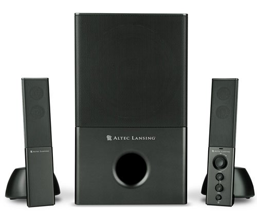 Altec Lansing VS-4121-Black Speaker aktives 2.1-Lautsprechersystem Nennbelastbarkeit Satelliten 6W, Subwoofer 19W