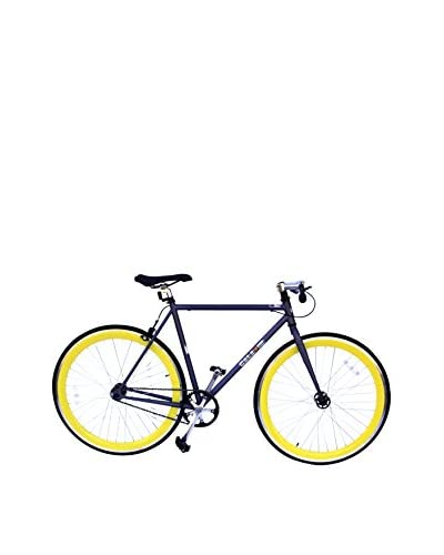 Galaxie Fixed Gear Bike, Gray/Yellow, 54cm