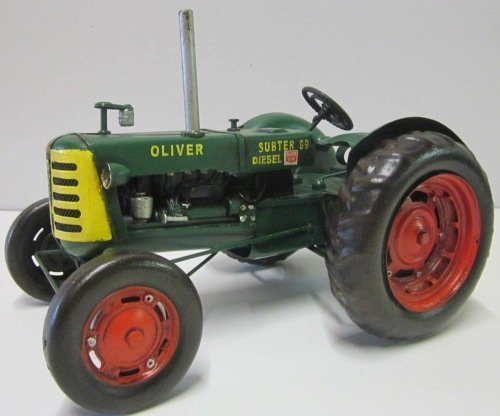 Model Car - Tractor Oliver Super 99 - Retro Tin Model