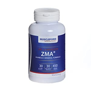 Muscleform ZMA ® Anabolic Mineral Formula 90 x 500mg capsules - 30 days supply - Fast Delivery