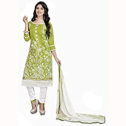 PARISHA Green Embroidered Un-Stitched Straight Suit PVMCRDMST712