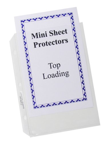C-Line Clear Top-Loading Heavyweight Poly 8 1/2 x 5 1/2 Inch Sheet Protectors 50 Count (62058)
