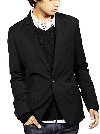 (エイト) 8(eight)5color テーラードジャケット スーツ生地 ブレザー M ブラック