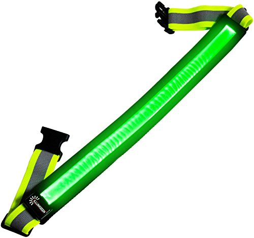LED-Reflective-Belt-USB-Rechargeable-High-Visibility-Gear-for-Running-Walking-Cycling-Fits-Women-Men-Kids-Fully-Adjustable-Lightweight-Safer-Than-a-Reflective-Vest-Green-Red-Blue