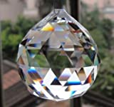 Large Crystal Ball Prism Pendant Suncatcher 40mm