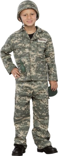 [Seasons Army Soldier Child Costume Brown/Green Small (5-7)] (Child Army Soldier Costumes)