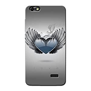 HEART WITH WINGS BACK COVER FOR HONOR 4C