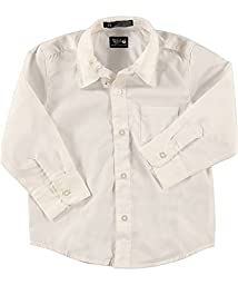 French Toast Boys White Long Sleeves Dress Shirt - E9004 - White, 3T