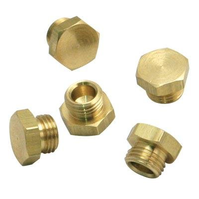 S&S Cycle Brass Threaded Bowl Plug (#34) 11-2090