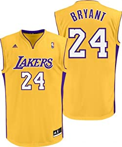 Kobe Bryant Los Angeles Lakers Gold Youth Replica Jersey by adidas