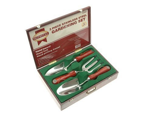Faithfull Boxed Set of Stainless Steel Hand Gardening Tools