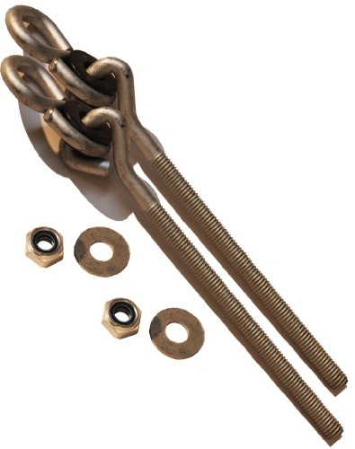 "Swing Set Hanger Galvenized 3/8"" (1 Pair) Porch Swing Seat Playground Hardware Wood Ny-Glide Jungle Gym (6"" Long) front-1040044"