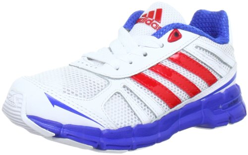 Adidas Performance adifast K Gym shoes Unisex-Child White Weià (RUNNING WHITE FTW / VIVID RED S13 / SATELLITE) Size: 29