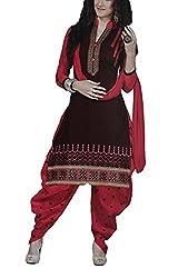 Meghali Women's Cotton Unstitched Salwar Suit (GS14_Multi-Coloured_Freesize)