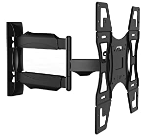 Invision® TV Wall Mount Bracket - New Slim Line Design With Cantilever Arm Tilt & Swivel Feature For 26 - 55 inch TV Screens, Fits LED, LCD & Plasma, Max VESA 400mm x 400mm (Please check TV VESA Mounting Holes Before Purchase)