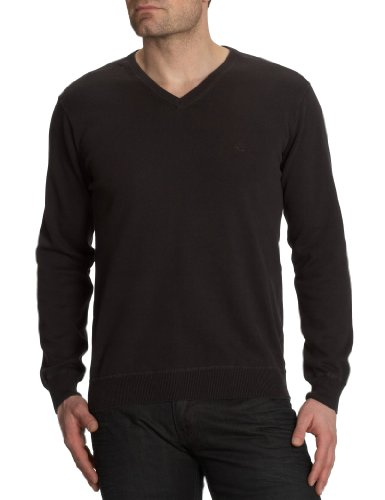 Camel Active 12gg V-Neck Men's Jumper Dark Brown 58