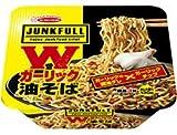 エースコック JUNK FULL ジャンクフル Wガーリック油そば 1ケース(12食入)
