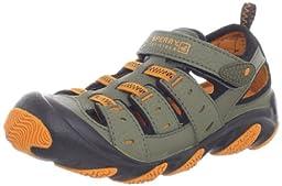 Sperry Top-Sider Wet Tech Sandal (Toddler/Little Kid),Green/Black/Orange,12 W US Little Kid