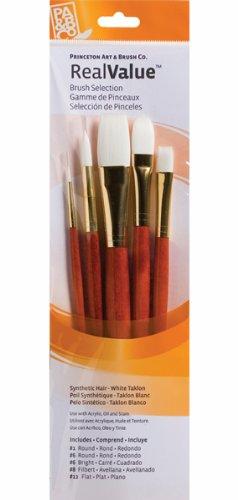 Princeton Brush Set 9155 5-Pc Lh White Taklon