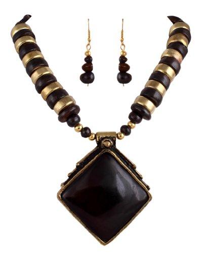 Sharnam Art Tribal / Ethnic master piece Necklace Set in Black color