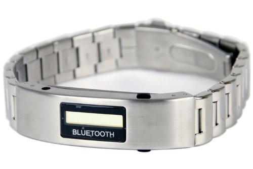 サンコー 【携帯電話の着信をバイブで知らせる】Bluetoothブレスレット(液晶付き)メタルバンド BLTBRLMB