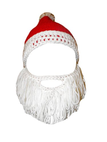 Simplicity Red and White Santa Hat with Mustache and Beard Attached Adult Size