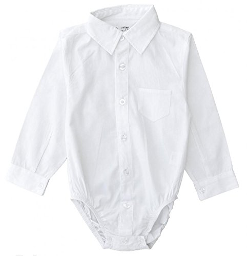 Littlest Prince Couture Infant/Toddler/Youth Long Sleeve White Dress Shirt Bodysuit 9 Months