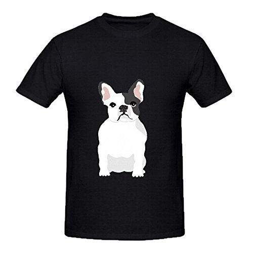 French Bulldog Hawaii Mens Crew Neck Funny Shirt White (Kohls Bulldog compare prices)