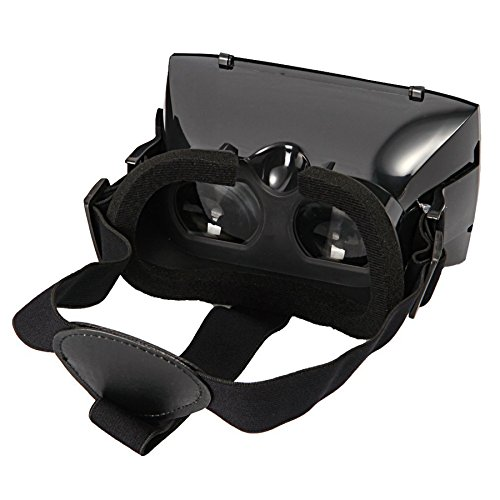 TechIntheBox ColorCross Google Virtual Reality 3D Video Glasses Cardboard Head Mount Plastic Version 3D Video Glasses, VR Bi-convex headset Free Hand for 4.7~6 Smartphone