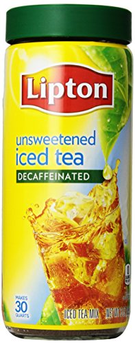 Lipton Decaffeinated And Unsweetened Iced Tea Mix, 3 Ounce (Pack Of 3)