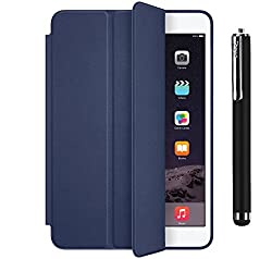 TOS Premium Smart Case Flip Cover and Stylus For iPad 2/3/4 (Blue)