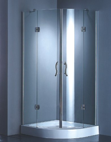 Shower Cabin Partition for 80x80 cm Shower, Glass Partition only