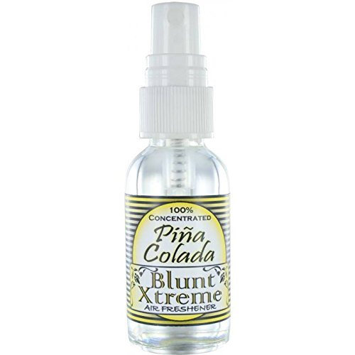 The Ultimate Piña Colada Type Air Freshener By Blunt Xtreme - 100% Ultra Concentrated Oil Based Spray - Ideal For Bathroom, Home, & Car More - Smokers' 1st Choice - Long Lasting Effects - 1oz Bottle (Air Freshener Pina Colada compare prices)
