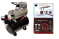 Paasche VLS Airbrush Set and Air Compressor with Tank